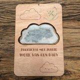 wolk van een baby hout