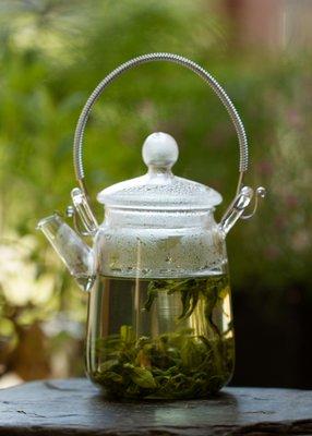 Glazen theekannetje (0,38 Liter)