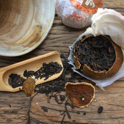 Pu-erh: Gefermenteerde thee in mandarijnenschil