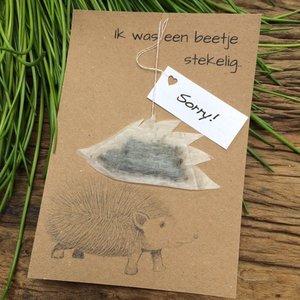 Wenskaart egel